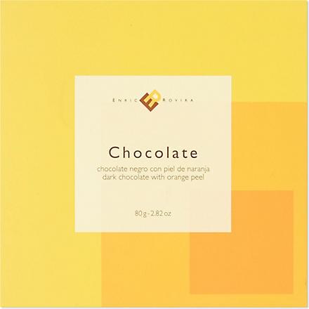 ENRIC ROVIRA Dark chocolate with orange peel 80g