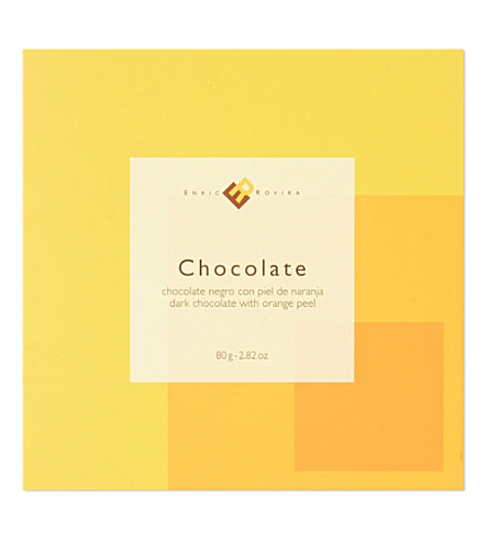 ENRIC ROVIRA Dark chocolate with orange peel 80g
