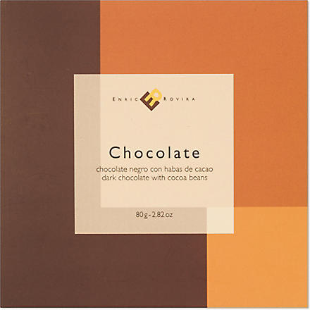 ENRIC ROVIRA Dark chocolate with cocoa beans 80g