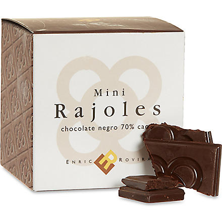 Dark chocolate mini rajoles