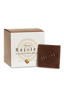 Milk chocolate mini rajoles