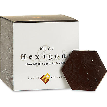 Dark chocolate mini hexagons