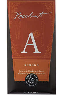 RECCHIUTI Almond semi-sweet chocolate bar 85g