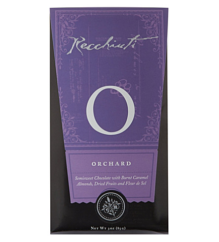 RECCHIUTI Orchard semi-sweet chocolate bar 85g