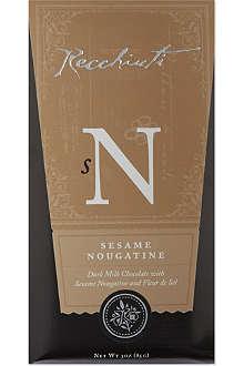 RECCHIUTI Sesame nougatine dark milk chocolate 85g