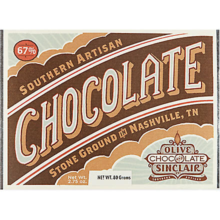 OLIVE & SINCLAIR 67% cacao artisan chocolate 80g