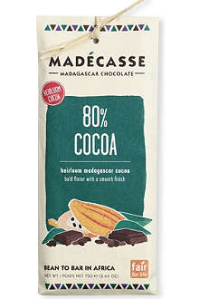 MADECASSE 80% cocoa dark chocolate bar 75g