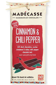 MADECASSE Cinnamon & Chili Pepper dark chocolate bar 75g