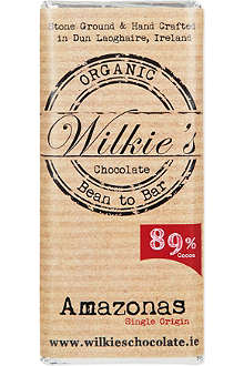 WILKIES Organic Amazonas 89% dark chocolate bar