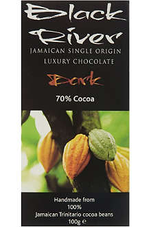 BLACK RIVER CHOCOLATE 70% cooca dark chocolate 100g