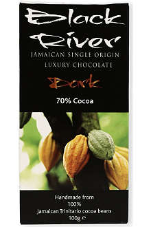 BLACK RIVER CHOCOLATE Milk chocolate 48% cocoa bar 100g