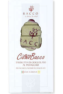 BACCO Pistachio Flavoured Chocolate 100g