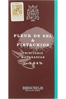 BESCHLE Fleur de sel and pistachio chocolate bar 50g