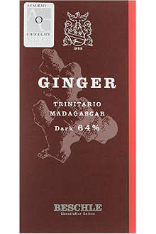 BESCHLE Dark chocolate and ginger bar 50g