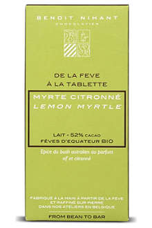 BENOIT NIHANT Organic Lemon Myrtle white chocolate bar