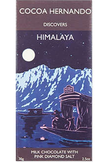 COCOA HERNANDO Himalaya milk chocolate bar with pink diamond salt