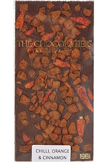 THE CHOCOLATIER Chilli, Orange & Cinnamon dark chocolate bar 100g