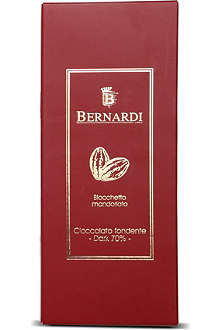 BERNARDI Dark chocolate with almonds bar 200g