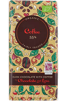 CHOCOLATE & LOVE Organic dark chocolate with coffee 100g