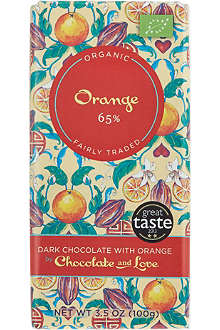 CHOCOLATE & LOVE Dark chocolate with orange 100g
