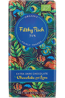 CHOCOLATE & LOVE Organic extra dark chocolate