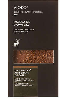 VIOKO Milk chocolate with coffee beans 100g