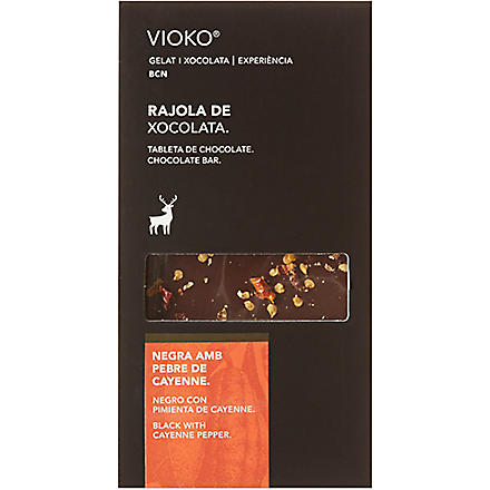 VIOKO Black chocolate with cayenne pepper 100g