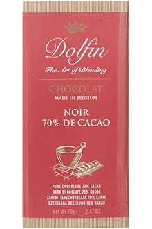 DOLFIN Extra dark chocolate bar 70g