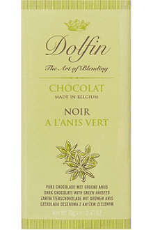 DOLFIN Dark chocolate bar with green aniseed 70g