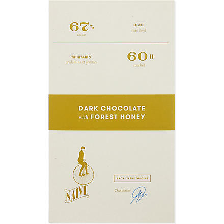 NAIVE Dark chocolate with forest honey 70g