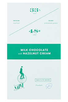 NAIVE Milk chocolate with hazelnut cream 70g