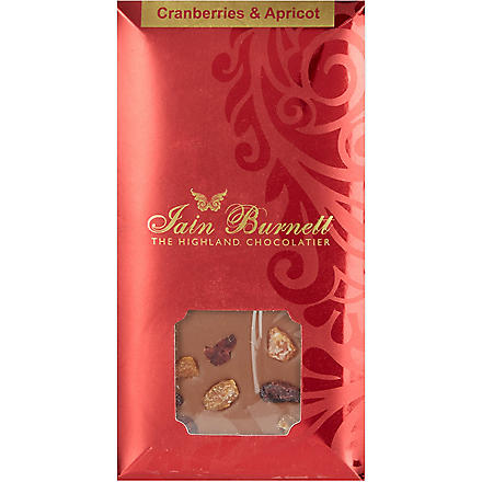 IAIN BURNETT Cranberry and apricot chocolate