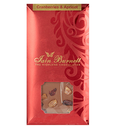 IAIN BURNETT Cranberry and apricot chocolate 100g