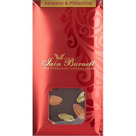 IAIN BURNETT Almond and pistachio chocolate 100g