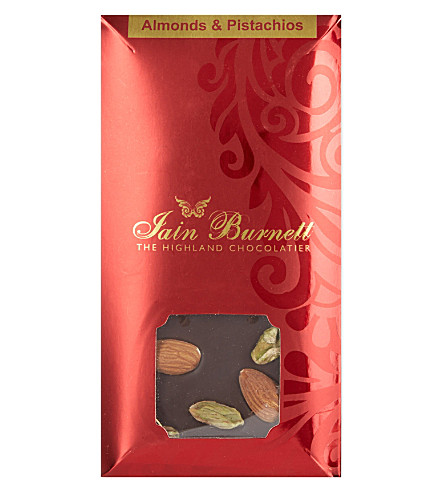 IAIN BURNETT Almond and pistachio chocolate 100g