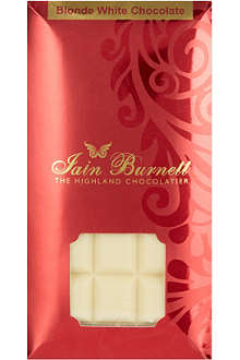 IAIN BURNETT Blonde white chocolate 100g