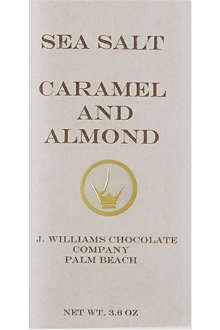J WILLIAMS J williams seasalt caramel and almond