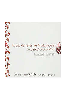LAURENT GERBAUD Dark chocolate with cocoa nibs 50g