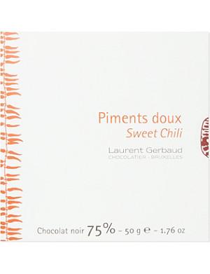 LAURENT GERBAUD Sweet chili dark chocolate 50g