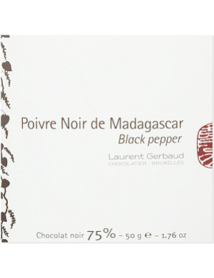 LAURENT GERBAUD Madagascan black pepper dark chocolate 50g