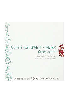 LAURENT GERBAUD Milk chocolate with green cumin 50g