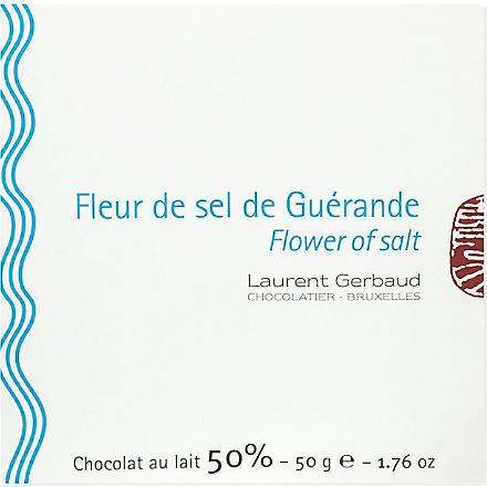LAURENT GERBAUD Fleur de sel de Guérand milk chocolate 50g