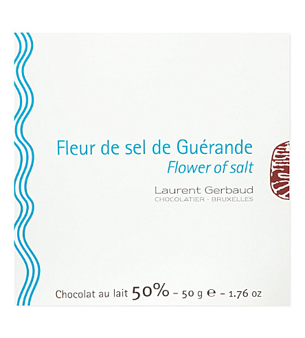 LAURENT GERBAUD Fleur de sel de Guérand milk chocolate 50g