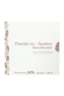 LAURENT GERBAUD Raw 70% cocoa dark chocolate 50g