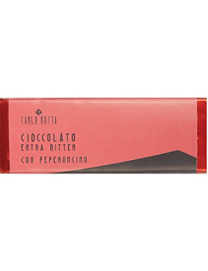 CARLO ROTTA Extra bitter chocolate with red chili