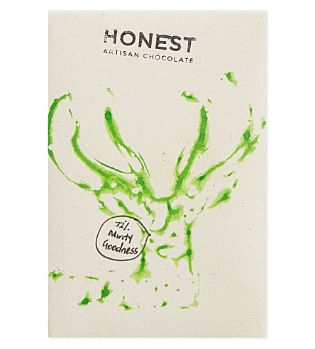 HONEST 72% dark chocolate + mint  60g