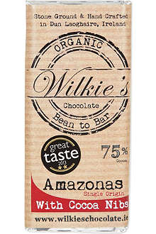 WILKIES Organic Amazonas 75% dark chocolate