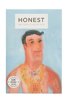 HONEST ARTISAN CHOCOLATE 72% dark chocolate + sweet orange 60g