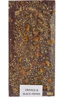 THE CHOCOLATIER Orange & Pepper dark chocolate bar 100g