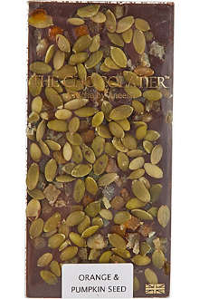 THE CHOCOLATIER Orange & Pumpkin seed dark chocolate bar 100g
